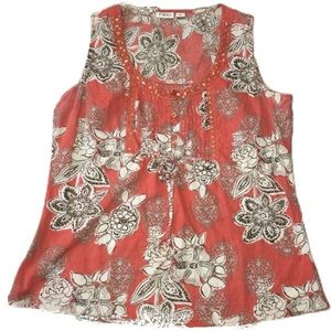 Cato floral girls tank top